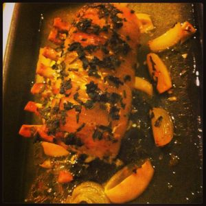 Roast Pork with Lemon, Sage and Garlic