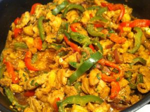 Fish fajita filling