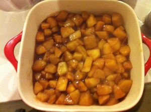 Stewed cinnamon apples