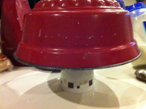 inverted pan on a mug