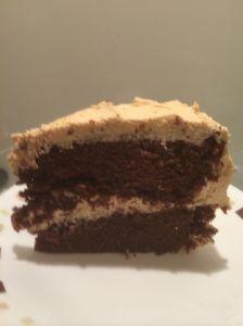 vegan choc slice cake